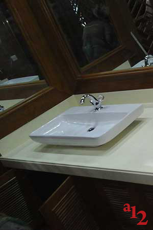 Solid Surface Basin Counter Top at Mandalay